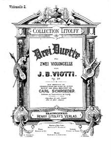Drei Konzertduos, Op.29: Für zwei Cellos – Cellostimme II by Giovanni Battista Viotti