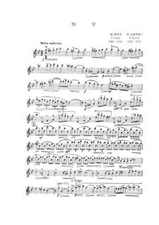 Chaconne in g-Moll: Für Violine und Klavier – Violinstimme by Tomaso Vitali