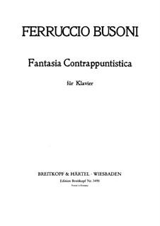 Kontrapunktische Fantasie: Für Klavier, BV 256 by Ferruccio Busoni