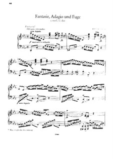 Fantasie, Adagio und Fuge: Für Klavier by Johann Sebastian Bach