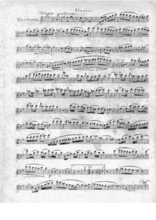 Quartett für Flöte und Streicher Nr.1 in g-Moll, Op.71: Flötenstimme by Traugott Maximilian Eberwein
