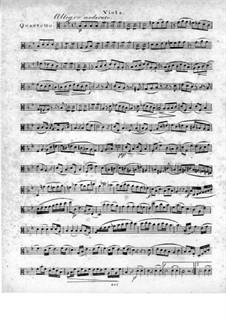Quartett für Flöte und Streicher Nr.1 in g-Moll, Op.71: Violastimme by Traugott Maximilian Eberwein