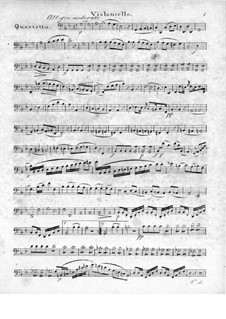 Quartett für Flöte und Streicher Nr.1 in g-Moll, Op.71: Cellostimme by Traugott Maximilian Eberwein