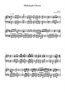 Nr.44 Halleluja: Für zwei Klaviere, vierhändig by Georg Friedrich Händel