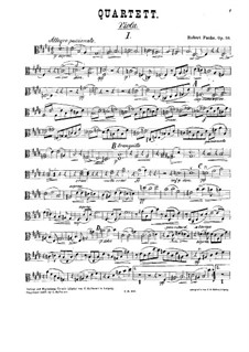 Streichquartett Nr.1 in E-Dur, Op.58: Violastimme by Robert Fuchs