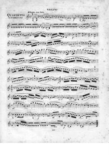 Quartett für Flöte und Streicher Nr.2 in C-Dur, Op.95: Violinstimme by Johann Wilhelm Gabrielski