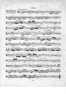 Quartett für Flöte und Streicher Nr.2 in C-Dur, Op.95: Violastimme by Johann Wilhelm Gabrielski