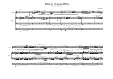 Piece for Oboe and Organ, MVWV 866: Piece for Oboe and Organ by Maurice Verheul