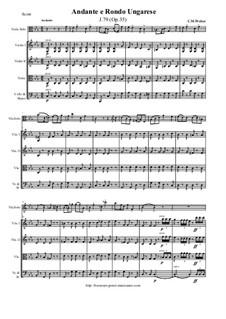 Andante und ungarisches Rondo für Bratsche und Orchester, J.79 Op.35: Score and all parts by Carl Maria von Weber
