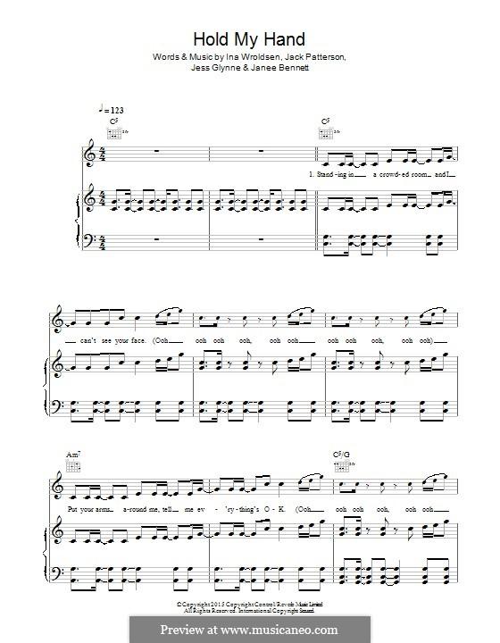 Hold My Hand: Für Stimme und Klavier (oder Gitarre) by Ina Wroldsen, Jack Patterson, Jess Glynne, Janee Bennett