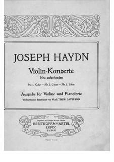 Konzert für Violine und Orchester Nr.4 in G-Dur, Hob.VIIa/4: Solostimme by Joseph Haydn