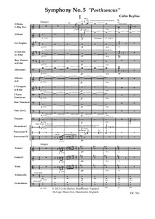 Symphony No.5 'Posthumous', B165: Score only by Colin Bayliss