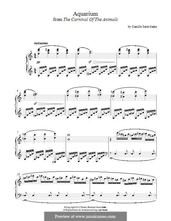 Das Aquarium: Für Klavier by Camille Saint-Saëns