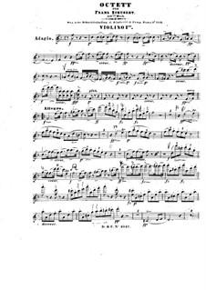 Oktett für Streicher und Bläser in F-Dur, D.803 Op.166: Violinstimme I by Franz Schubert