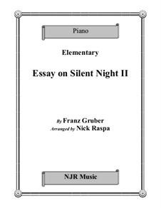 Stille Nacht, für Klavier: For elementary level piano by Franz Xaver Gruber