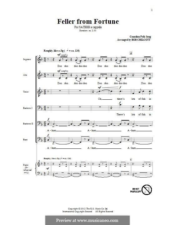 Feller from Fortune: Für gemischten Chor by folklore