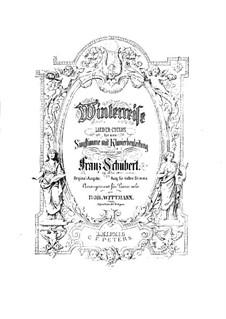 Vollständiger Zyklus: Für Klavier by Franz Schubert