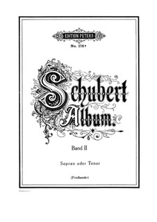 Lieder für Stimme und Klavier: Band II, Teil I by Franz Schubert