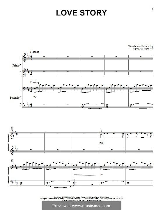 Love Story: Für Klavier by Taylor Swift