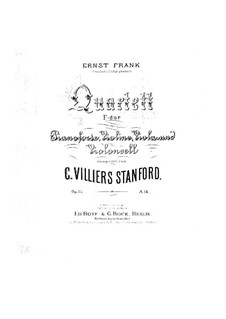 Klavierquartett in F-Dur, Op.15: Teile I-II by Charles Villiers Stanford