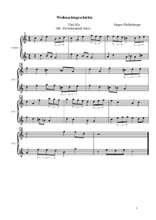 Die Weihnachtsgeschichte nach Charles Dickens: Zwischenspiel kurz, Op.01.02a by Jürgen Pfaffenberger