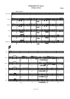 Schülerkonzert Nr.5 für Violine und Klavier, Op.22: For violin solo and string orchestra by Friedrich Seitz