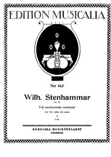 Zwei sentimentale Romanzen, Op.28: Für Violine und Klavier – Partitur by Wilhelm Stenhammar