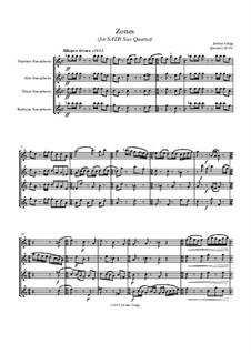 Zones (for SATB Sax Quartet): Zones (for SATB Sax Quartet) by Jordan Grigg