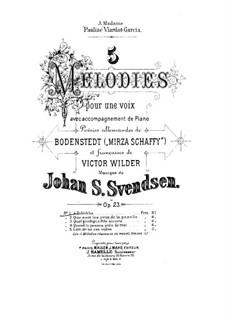 Fünf Romanzen für Stimme und Klavier, Op.23: Nr.1 Zuléïkha by Johan Svendsen