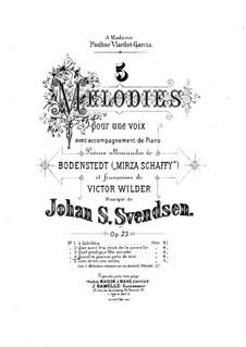 Fünf Romanzen für Stimme und Klavier, Op.23: Nr.4 O, wie mir schweren Dranges by Johan Svendsen