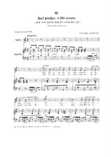 Fünf Romanzen für Stimme und Klavier, Op.23: Nr.3 Seh' ich deine zarten Füsschen an by Johan Svendsen