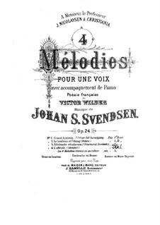 Vier Romanzen für Stimme und Klavier, Op.24: Nr.4 Längsel by Johan Svendsen