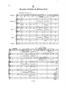 Zwei schwedische Volksmelodien, Op.27: No.2 Du gamla, du friska, du fjellhöge Nord for strings by Johan Svendsen