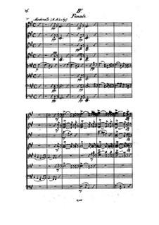 Streichoktett in A-Dur, Op.3: Teil IV by Johan Svendsen