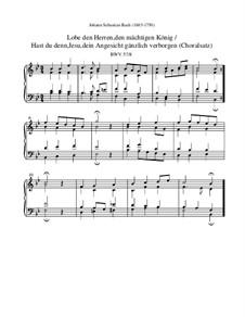 Lobe den Herren, den mächtigen König der Ehren, BWV 137: Choralsatz by Johann Sebastian Bach