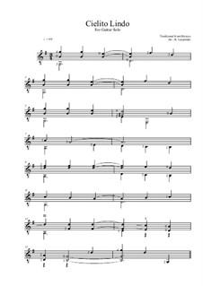 Cielito Lindo: Für Gitarre by folklore