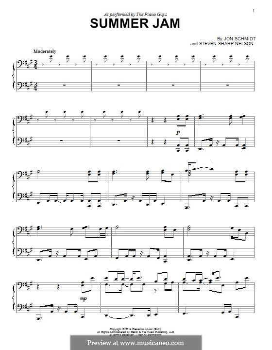 Summer Jam (The Piano Guys): Für Klavier by Jon Schmidt, Steven Sharp Nelson