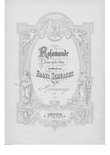 Vollständige Oper: Für Sopran, Chor und Klavier by Franz Schubert