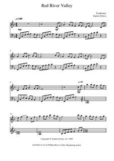 Red River Valley: Für Klavier by folklore