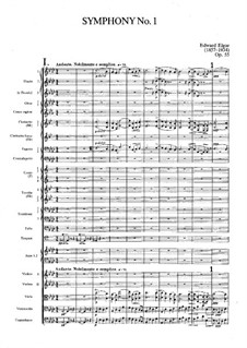 Sinfonie Nr.1 in As-Dur, Op.55: Vollpartitur by Edward Elgar