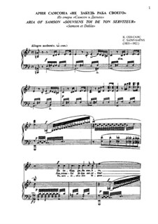 Samson und Dalila, Op.47: Aria of Samson 'Souviens toi de ton serviteur...' by Camille Saint-Saëns
