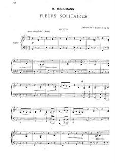 Waldscenen: Nr.3 Einsame Blumen, für Klavier, vierhändig by Robert Schumann