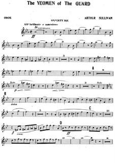 The Yeomen of the Guard: Oboenstimme by Arthur Sullivan