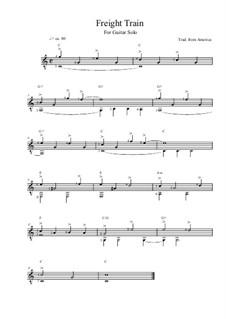 Freight Train: Für Gitarre (C Major) by folklore