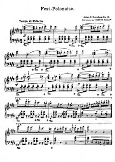 Grosser Polonaise, Op.12: Für Klavier by Johan Svendsen