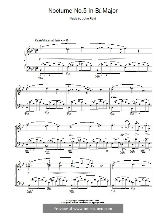 Nocturnes für Klavier: Nocturne No.5 by John Field