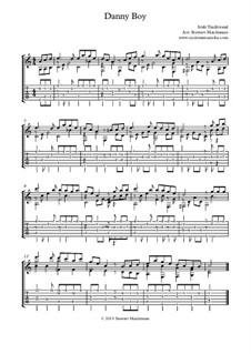 Danny Boy (Londonderry Air): Für Gitarre mit Tabulatur by folklore