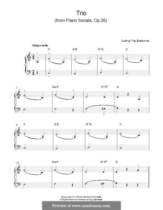 Sonate für Klavier Nr.12 in As-Dur, Op.26: Trio by Ludwig van Beethoven