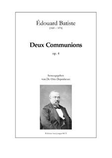 Deux Communions, Op.4: Deux Communions by Edouard Batiste
