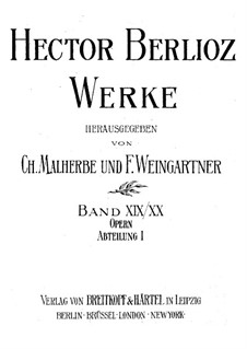 Beatrice und Benedict, Op.27: Vollpartitur by Hector Berlioz